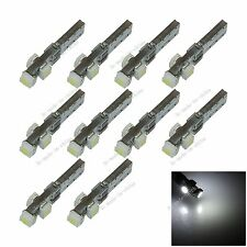 10X White T5 3 1210 LED Canbus Error Free Plate Speed Wedge Light Bulb B007