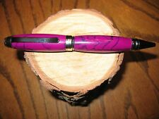 Gorgeous Handmade Hybrid Cigar pen of Real Sugi & Black Web Tru Stone