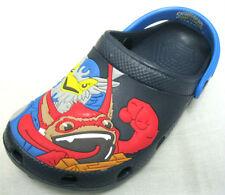 Boys Skylanders Navy Swap Force Rubber Clogs Mules Sandals