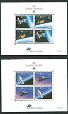 Europe 1991 Portugal Madeira Space Whole Complete  Set of Two Block Sheets  MNH