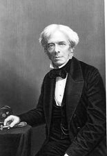 Michael Faraday  1791 - 1867 who discovered electricity in 1831  Poster Print