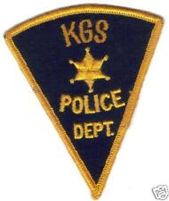 KGS POLICE PATCH