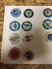 Lot of Assorted Casino Chips 17,(14 $, + 3 randoms) Vegas Socal indiana