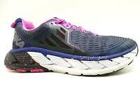 Hoka One Gaviota Navy Blue Pink Lace Up Athletic Running Shoes Women's 7.5