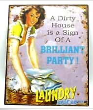 Laundry Metal Tin Sign Plaque Self Serve Sunlight Soap Lux Pears Also Listed
