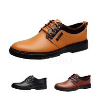 Men Wing Tip Business Dress Formal Genuine Leather Shoes Lace up Casual Loafers