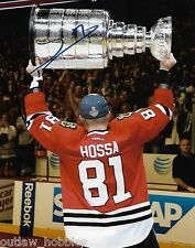 Chicago Blackhawks Marian Hossa Stanley Cup Signed Autographed 8x10 Photo COA H