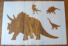 Maschera TRICERATOPO dinosauro Stencil Riutilizzabile Mylar Foglio per arti e mestieri, fai da te