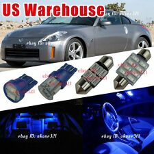 7-pc Pure Blue LED Lights Bulb Interior Package Dome Kit For 03-08 Nissan 350Z