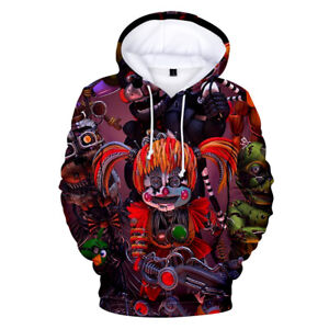 Five Nights at Freddy's Anime Casual Jacket Hooded Sweatshirt Coat Cosplay#01