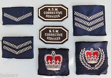 NSW CORRECTIVE SERVICES PRISONS CORRECTIONS  PRISON OFFICER SET RANKS PATCHES