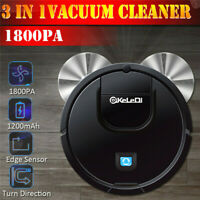 1800PA Robotic Robot Vacuum Cleaner Floor Dry Clean Mop Sweeping Rechargeable