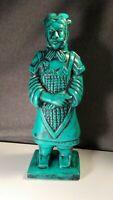 "Handpainted 8.5"" The General Terracotta Warrior Ceramic Figurine feng shui art"