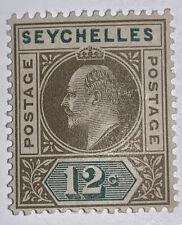 Travelstamps: 1901 Seychelles Stamps SG # 41 Mint OG Queen Victoria 12 Cent