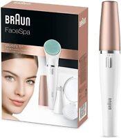 Braun FaceSpa 851 Sistema 3 en 1 de depiladora facial cepillo limpiador y masage