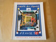 PROGRAMMA/PROGRAM=OFFICIAL PROGRAM COUPE DU MONDE FRANCE 1998=