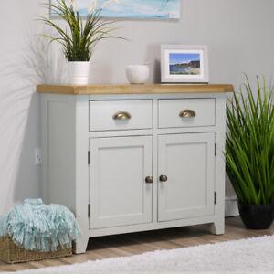 Arklow Painted Oak Sideboard / Solid Small 2 Door 2 Drawer Cupboard / Brand New