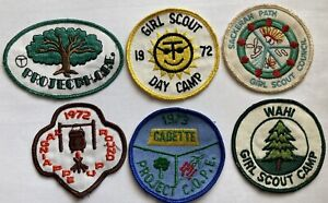 Vintage Girl Scout Patch 1970's San Antonio Tx GSA Area Texas Lot Of 6 Patches