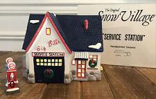 Dept 56 Snow Village Big Bill's Service Station & Pump Box & Light Mechanic Shop