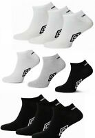 6 Pairs UMBRO Mens Official TRAINER Ankle Sports Socks Cotton Rich Adults 6-11