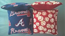 Atlanta Braves MLB Cornhole 8 Bags  - NEW Baseball Corn hole Baggo