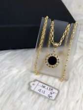 """GoldNMore: 18K Gold Necklace And Pendant 18"""" chain FPTG"""