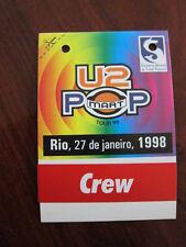 U2 Backstage Pass Rio de Janeiro 1998 Popmart