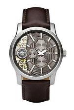 Fossil Armbanduhren mit Mineralglas in Braun