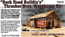 Back Road Buildin's Thrasher Bros Warehouse Kit Yorke/Scale Model On3/On30/1:48
