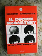 IL CODICE McCARTNEY. LA VERITA' SULLA MORTE DI PAUL - PRIMA EDIZIONE