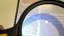 Large 6 Inch 2X 5X LED Lighted Handheld Magnifier Reading Loupe