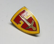 Vintage Military  Sword Shield Design Metal Lapel  Beautiful Gold Pin  USMC ARMY