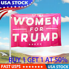 Women For Trump 3x5 Ft Flag Pink Premium Quality Heavy Duty  Polyester Banner US