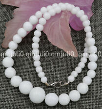 100% Genuine natural White Coral stone Round Gemstone Beads Necklace 18 inches