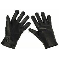 BW Handschuhe Leder Lederhandschuhe Fingerhandschuhe schwarz gefüttert Gr S-XXL
