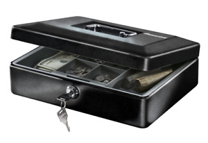 Security Money Box Fire Proof Lock Safe Storage Cash Gun Jewelry Portable Safety