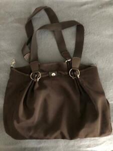 Duffel Bag Purse Brown Nylon Handbag Shoulder Bag - Never used