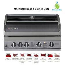 Matador Boss 4 Natural Gas Built in BBQ Rear Radiant Burner Barbeque