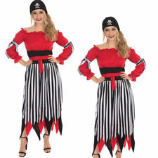Female Pirate Costume Ladies High Seas Traditonal Pirate Fancy Dress Outfit Book