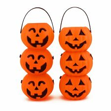 12pk Mini Plastic Jack O Lantern Pumpkin Halloween Party Favor Candy Buckets