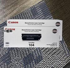 Canon's Toner New+Full Box Original 104 Black Color Cartridge 0263B001 OEM 1Box