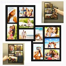 Magnetic Photo Picture Collage Frame Refrigerator 2 Pack Family Home Decor New