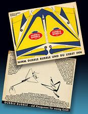 DUBBLE BUBBLE GUM | ALTER FLUGZEUG BASTELBOGEN 50er A5   KAUGUMMI BILDER RARITÄT