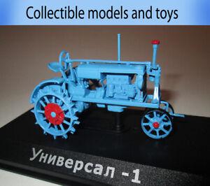 1: 43 model Tractor Universal-1, USSR 1934, Hachette, tractor series, cast