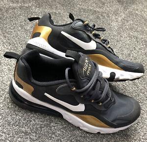 Nike Air React Ladies Trainers 5.5 Black & Gold Worn 3 Times