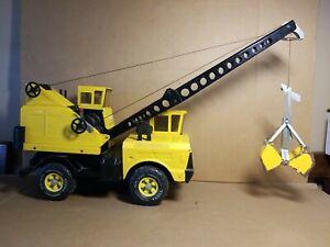 TONKA Crane Clam Bucket Crane Steel Construction Truck Vintage Toy