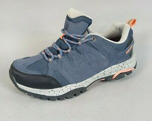 Crane Womens Waterproof Walking Shoes Size 5 Blue Leather Hiking Outdoor Casual