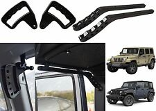 Upgraded Black Front & Rear Grab Bar Handles 2007-2017 Jeep Wrangler JK New USA
