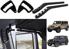 Upgraded Black Front & Rear Grab Bar Handles 2007-2017 Jeep Wrangler JK New USA