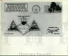 1978 Press Photo State lede Rattlesnake Island stamps - cvb09272